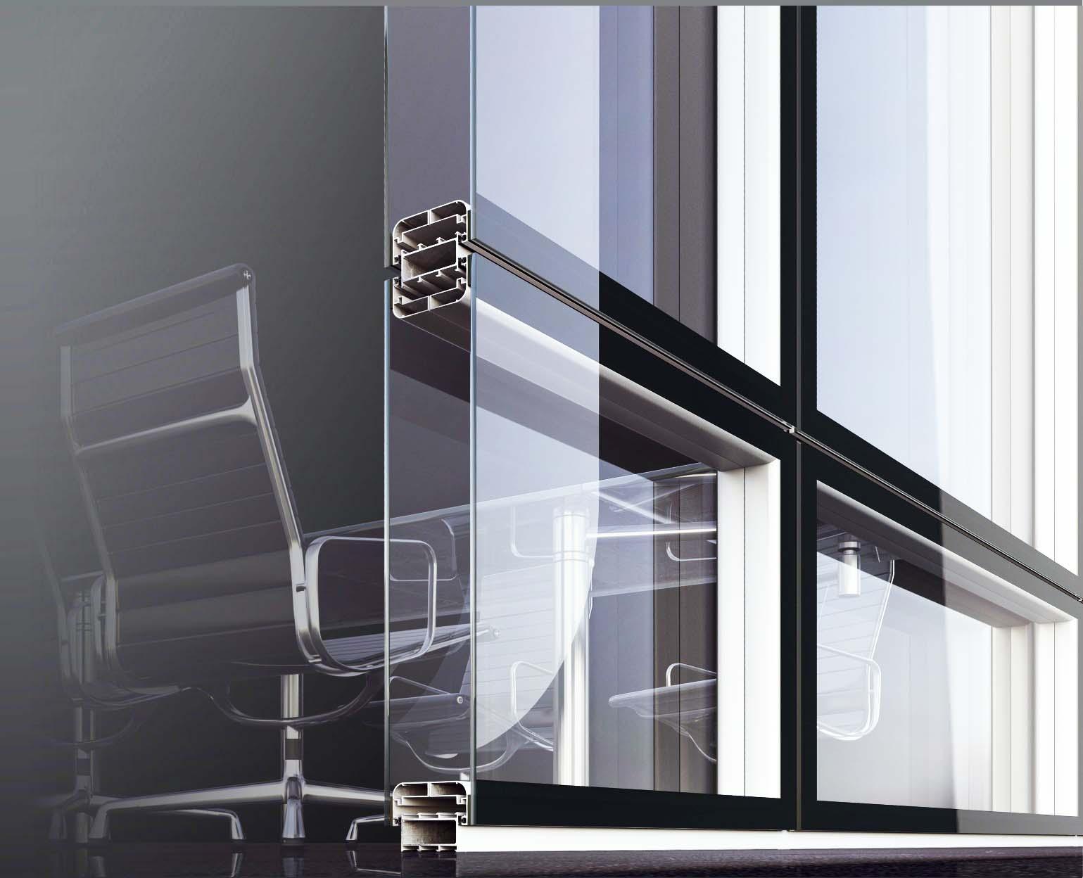 Parete Divisoria Ufficio : Pareti divisorie in vetro e alluminio per lufficio in fissa per